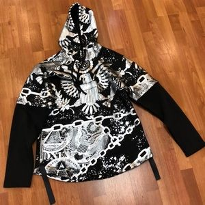 Rogue sport black and silver pullover hoodie